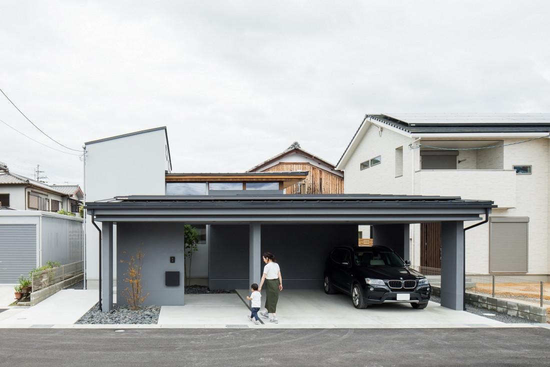 上笠の家(インナガレージのある猫と暮らす家) アイキャッチ画像