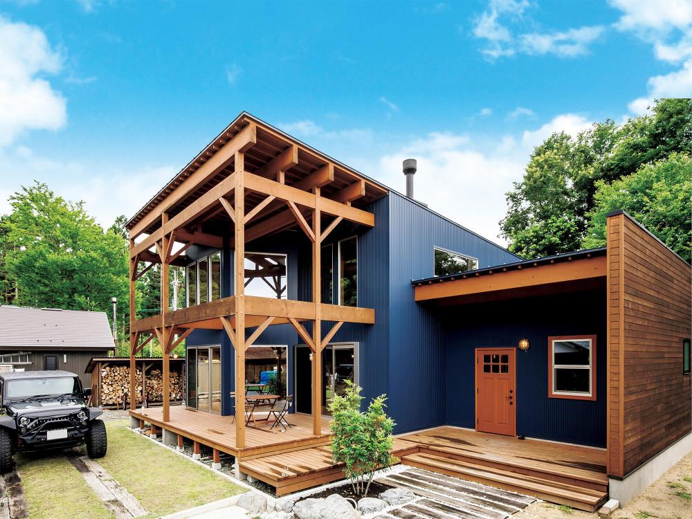 自然と一緒に暮らす、アウトドア好きの家